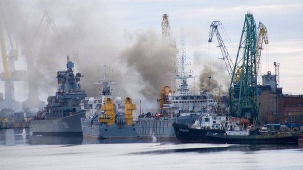 Russian nuclear submarine fire 'put out' in Arctic dock