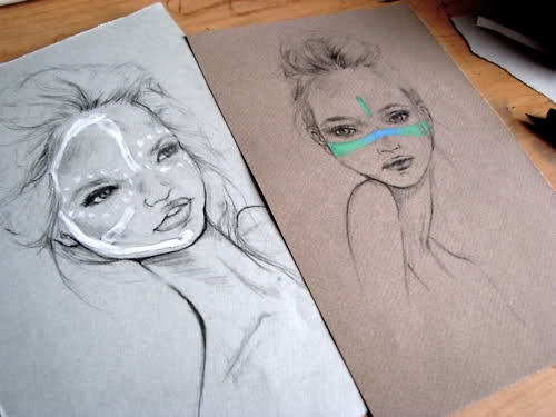 model sketch: Body Paintings, Faces Paintings, Fashion Design, Figures Drawings, Girls Fashion, Drawings Fashion, Paintings Faces, Paintings Idea, Line Art
