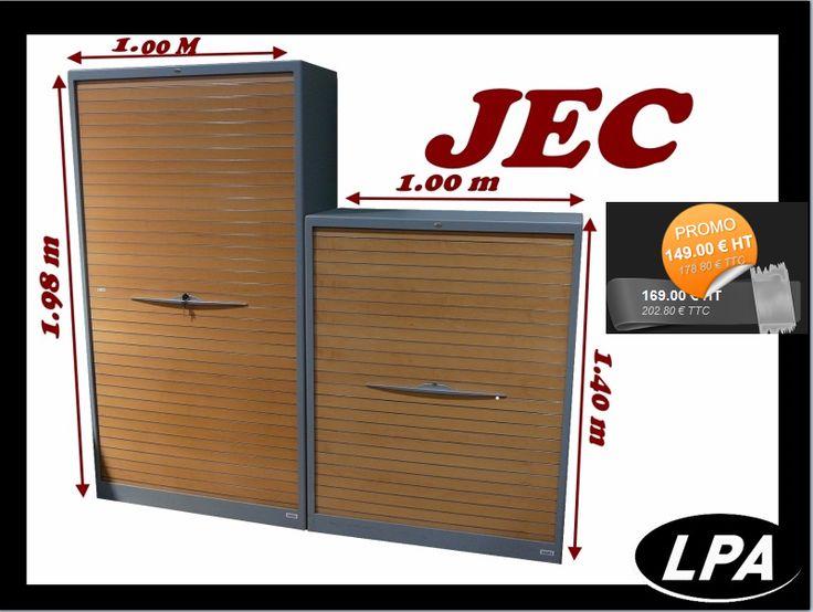 Lot deux armoires haute et mi-haute professionnel JEC  2 couleurs Armoire haute :  1.98x1.00x0.45 M et ses 4 étagères  Armoire mi-haute : 1.40x1.00x0.45 M et ses 3 étagères  Les 2 armoires sont munis de pieds réglables  Plusieurs lots en stock Matériaux : métal/PVC Couleur : gris/hêtre