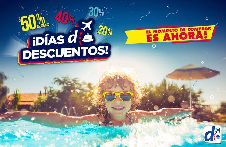 Tus próximas #VACACIONES son recontra posibles con los #DíasDDescuentos. Comprá YA en: http://bit.ly/DDD_2016
