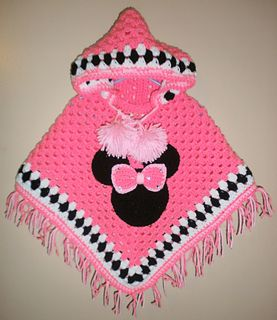 Who doesn't love minnie mouse? Well I know that I love her and would have killed to have this poncho as a child! What a great thing just in time for winter and those cool months!