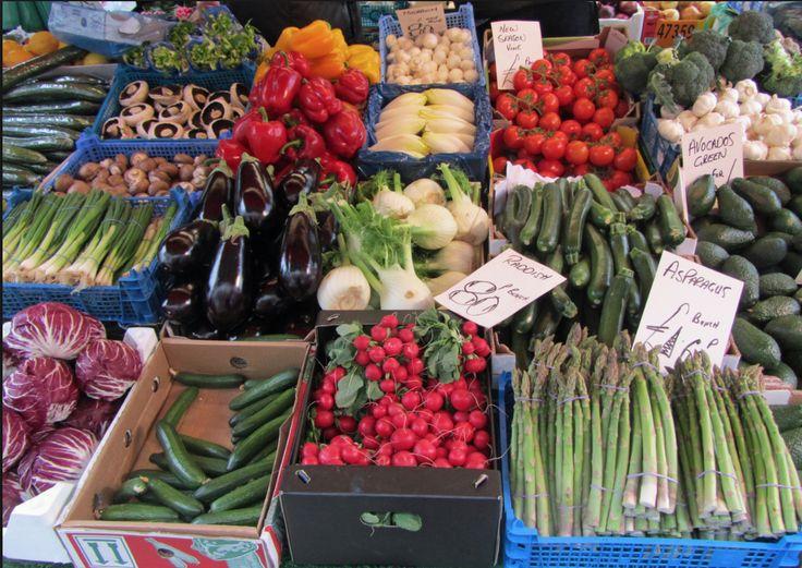 Fantastic produce at the greengrocer stalls on Portobello Road.