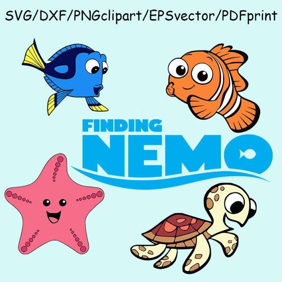Finding Nemo SVG DXF Dory Finding Nemo Logo Clipart Cut File