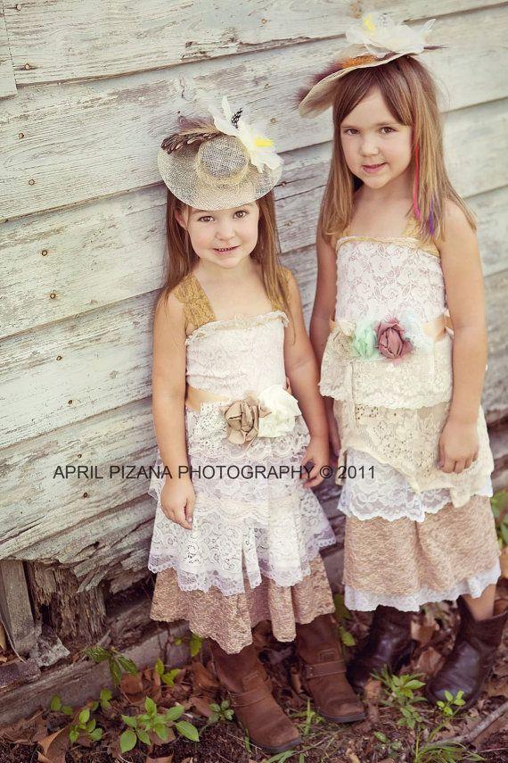 Flower Girl Custom Tea Party Dress-Ruffled by amandarosebridal