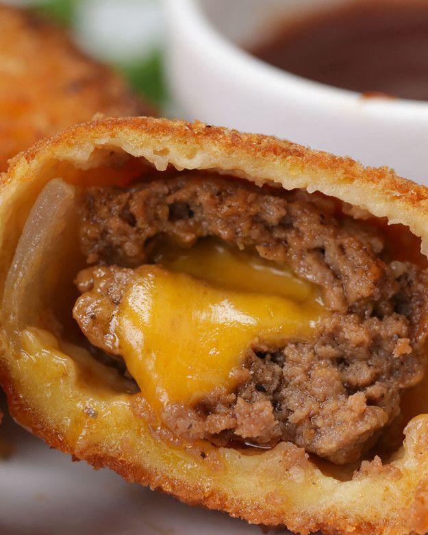 BBQ Cheeseburger Onion Rings