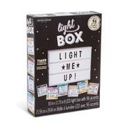 """Battery-Operated LED Light Box Sign 96 Letters & Symbols 8.5"""" x 11.75"""""""