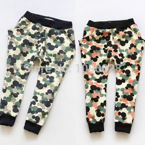 Мальчики Брюки 2015 Осень Гарем брюки хлопок Мальчиков Брюки камуфляж армии терри эластичный пояс Дети брюки для девочек