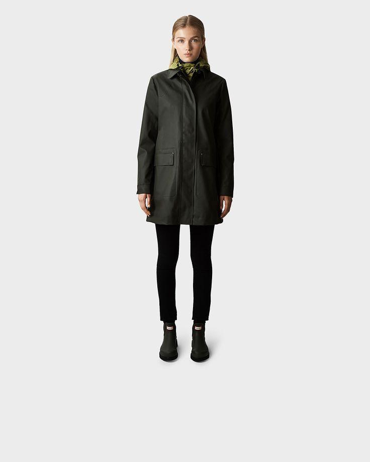 Women's Original Rubberised Raincoat | Official Hunter Boots Site