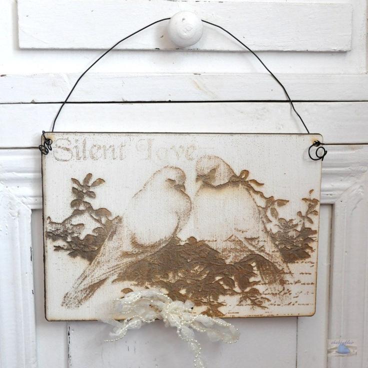 Shabby Chic Hochzeits-Schild aus Holz Vintage...