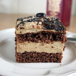Delicious cappuccino cake (in Polish)