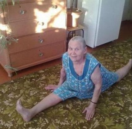80 Years Old Grandma Doing Splits  ---- funny pictures hilarious jokes meme humor walmart fails