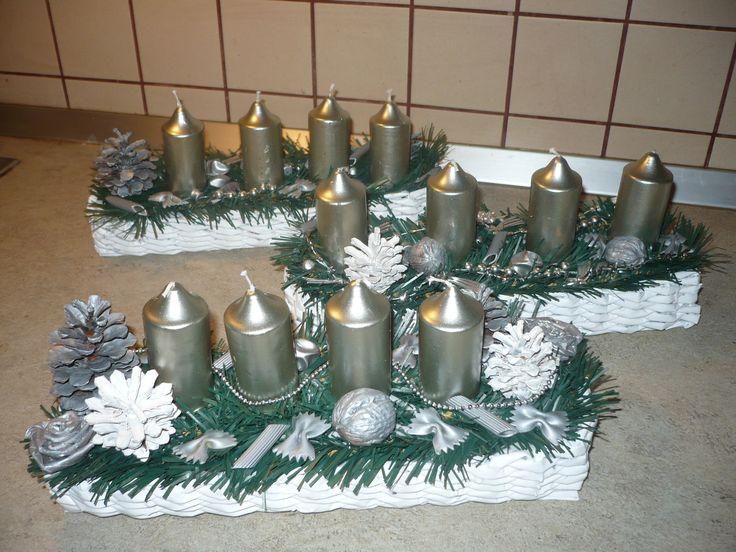 Adventi koszoruk hand made:)