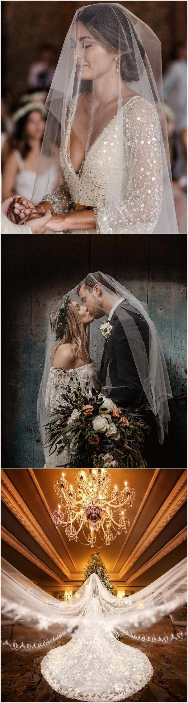 18 idee per foto di matrimoni romantici da portare con il tuo velo da sposa!