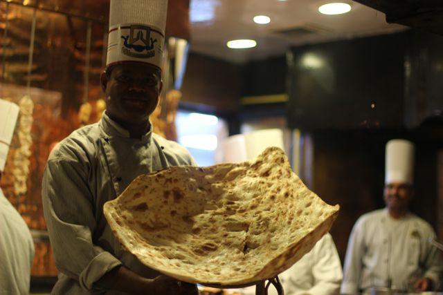 Delicious naan done right at Bukhara restaurant