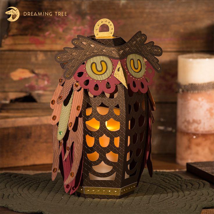 Hoot Owl Lantern SVG - Dreaming Tree