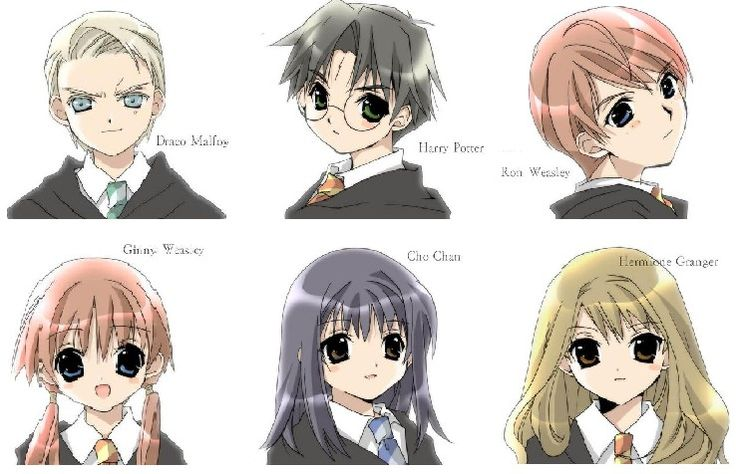Anime Characters Don T Look Asian : Best images about harry potter in the anime world on