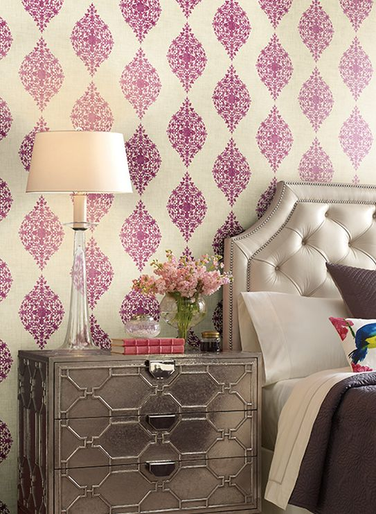 Designer Damask Room Setting Photo By Ronald Redding Wallcoverings