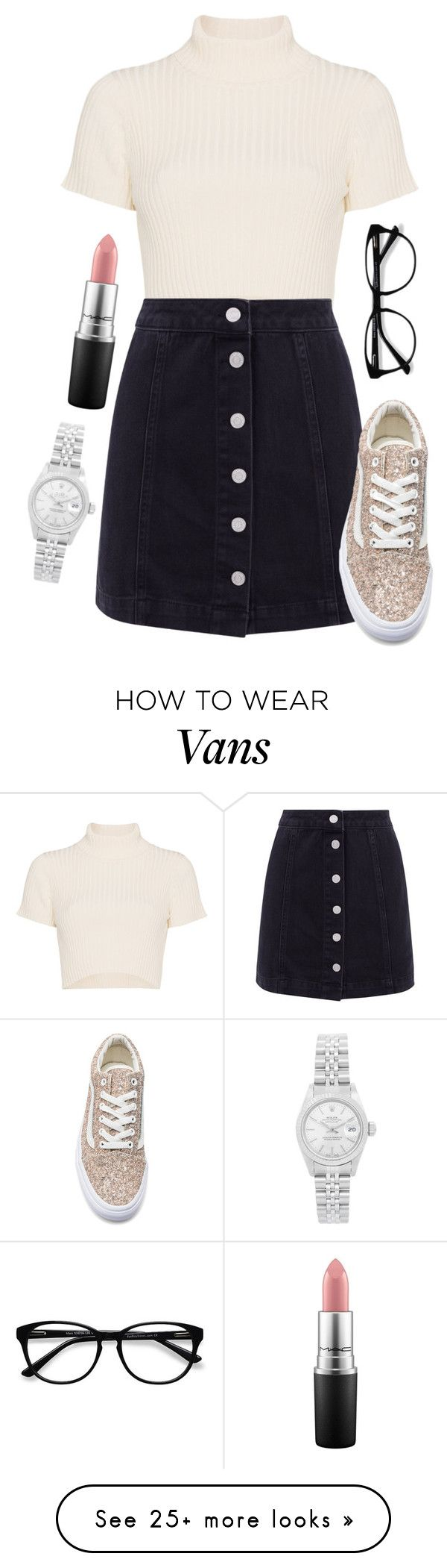 """""""I'm bored"""" by nycheart05 on Polyvore featuring Staud, Vans, EyeBuyDirect.com, MAC Cosmetics and Rolex"""
