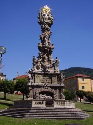 Slovakia, Kremnica - Plague Column of the Holy Trinity
