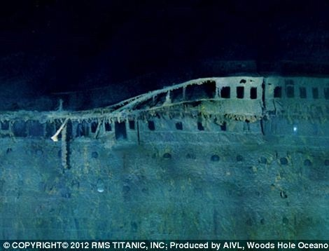 Amazing composite photography of the sunken Titanic, 100 years later.