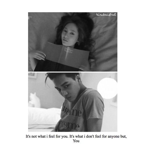 Image via We Heart It #asian #beautiful #blackandwhite #couple #edit #exo #feelings #fx #grunge #love #otp #quotes #romantic #text #word #you #kai #krystal #kpopquotes #kaistal #kpopedit