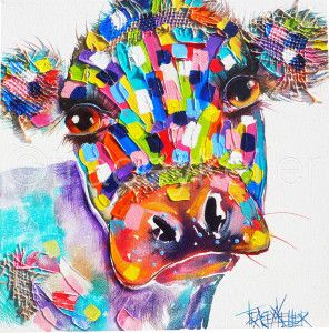 Tracey Keller Colourful Bovine Painting