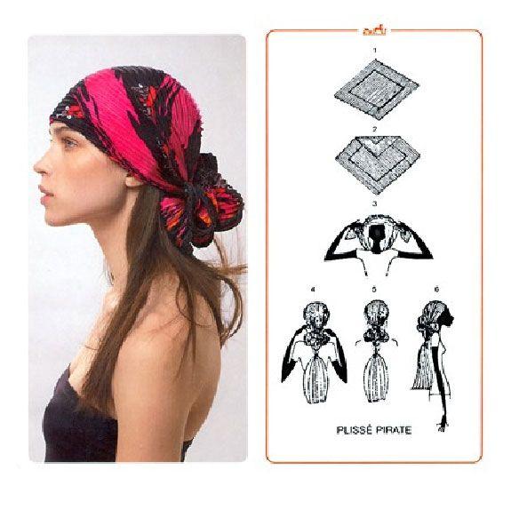 как повязать платок на голову - Схемы в работе