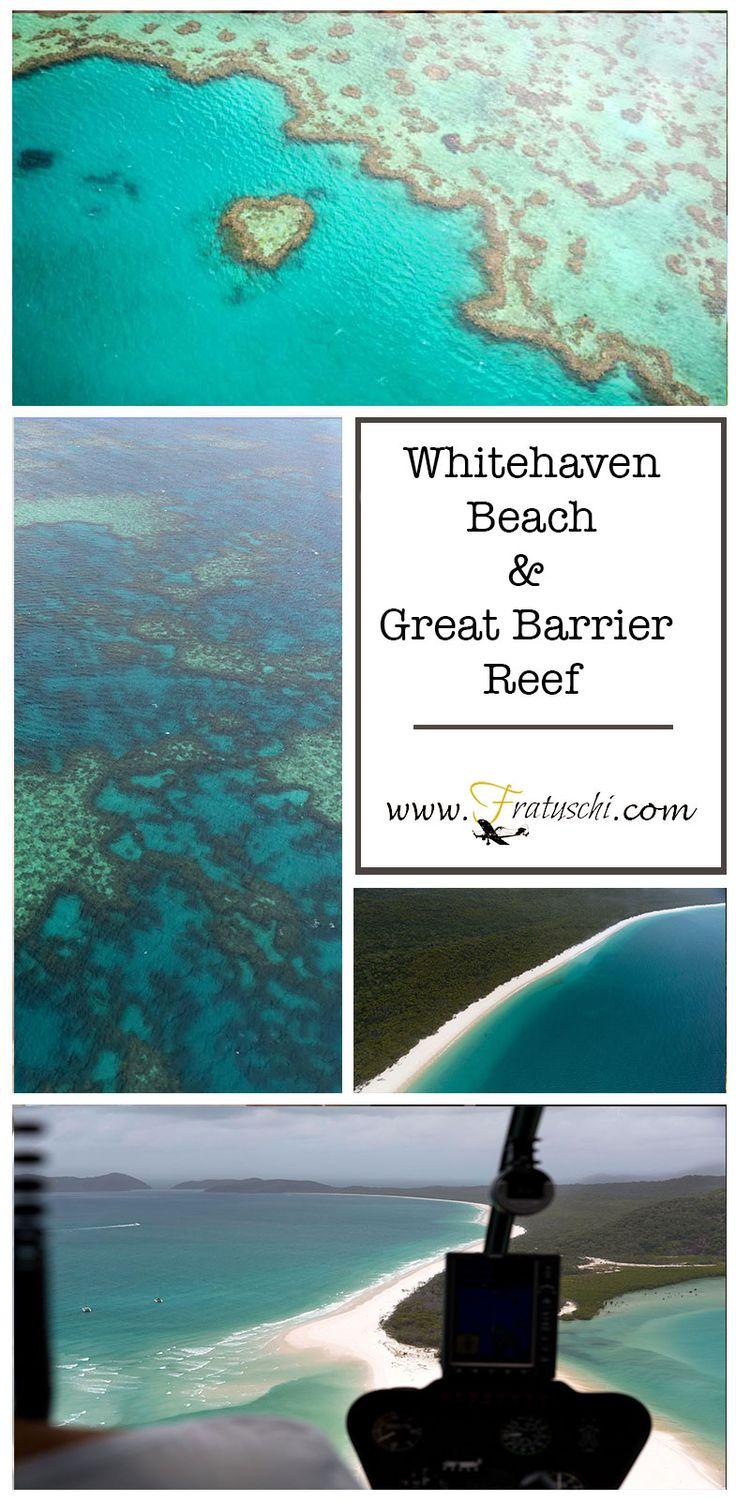 Ein Highlight jeder #Australienreise: Das Great Barrier Reef und der schneeweiße Whitehaven Beach. #Whitehaven #GreatBarrierReef #Australien #Australia #Queensland #Reise #Travel