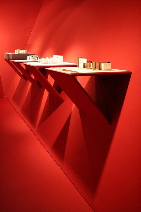German design student Jana Klein-Kalmer designed this temporary exhibition space to show off student work