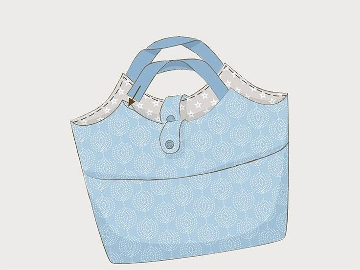 DIY-Anleitung: Shopper mit Seitentaschen nähen via DaWanda.com