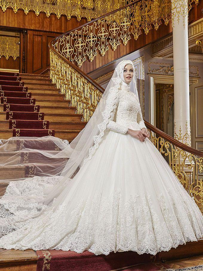 d22969688fb2d 2018 Tesettür Gelinlik Modelleri - #Gelinlik #modelleri #tesettür   Bridal  Gowns in 2019   Wedding dresses, Hijab wedding dresses, Affordable wedding  ...