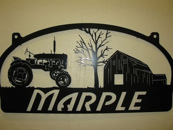 Personalized Metal Sign with barn and old by SignPerformance