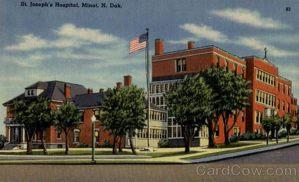 Some of the best people have been born in this hospital. St Joseph's Hospital, Minot ND-including me!!