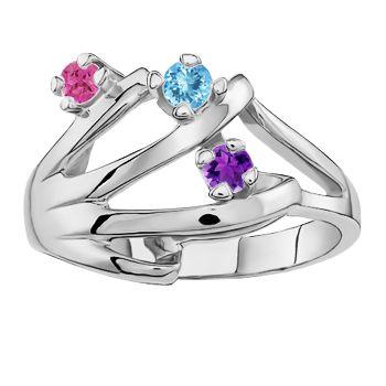 Angara Brown and White Diamond Split Shank Ring with Heart Motif n6lJCQ