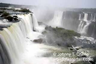 Iguazu Falls are a complex of 275 different falls shared by Argentina and Brazil