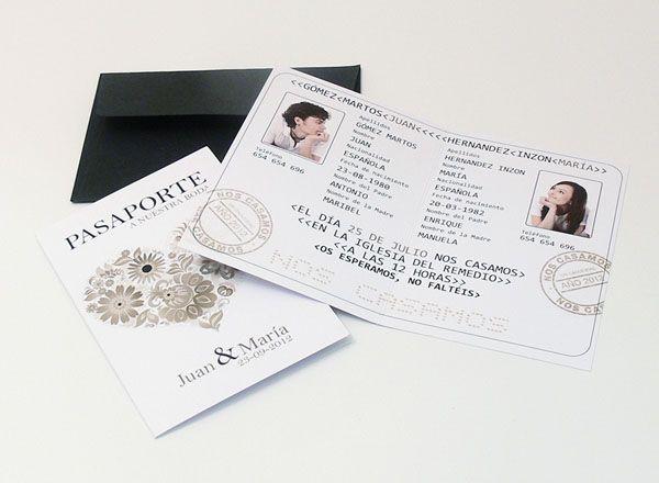 Invito Nozze - Passaporto I54V8-B