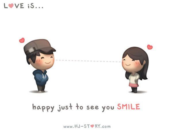 """""""L'amore è... sentirsi felice nel vederti sorridere."""""""