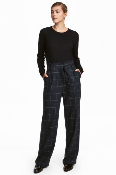 Paper Bag Trousers Things To Wear Trousers Checked Trousers Pants