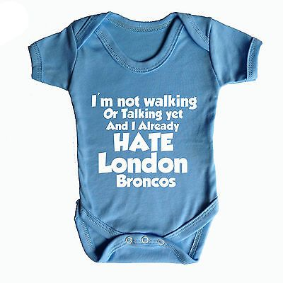 I hate london broncos #funny baby grow - #rugby baby grow #leeds rhinos  ,  View more on the LINK: http://www.zeppy.io/product/gb/2/261403838290/