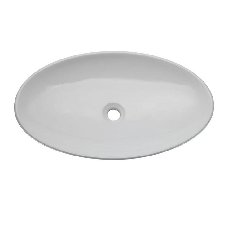 Decolav 1448-CWH Classically Redefined Oval Vessel Lavatory Sink, White 542924