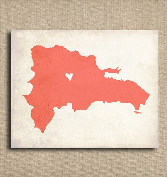 Dominican Republic Love Country Customizable Art