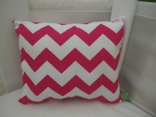 Nursery Cushion Chevron Pink