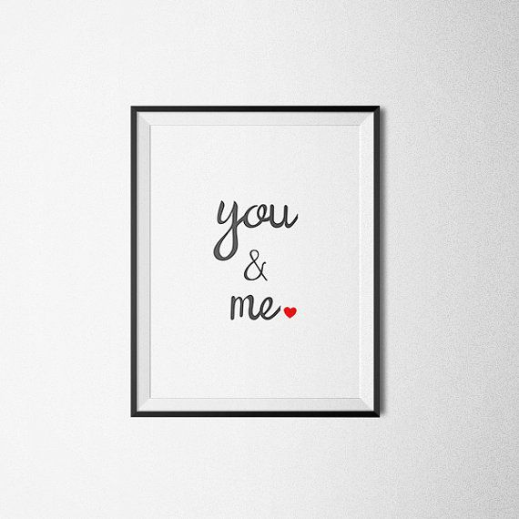 You And Me Love. Printable Poster You And Me Wall by PrintAndUse