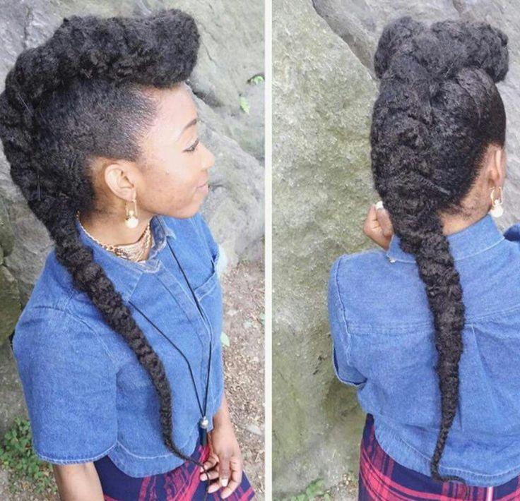 Mohawk w/ Marley hair