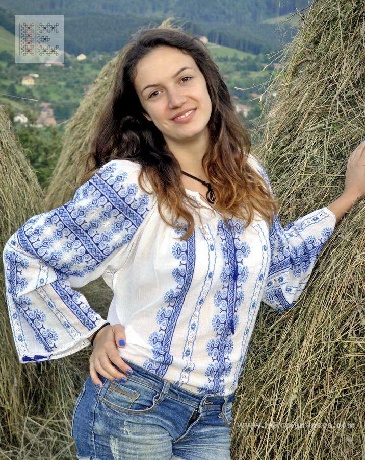 hand embroidered Romanian blouse - worldwide shipping worldwide shipping #vyshyvanka #romanianblouse #ia #ieromaneasca #bohostyle