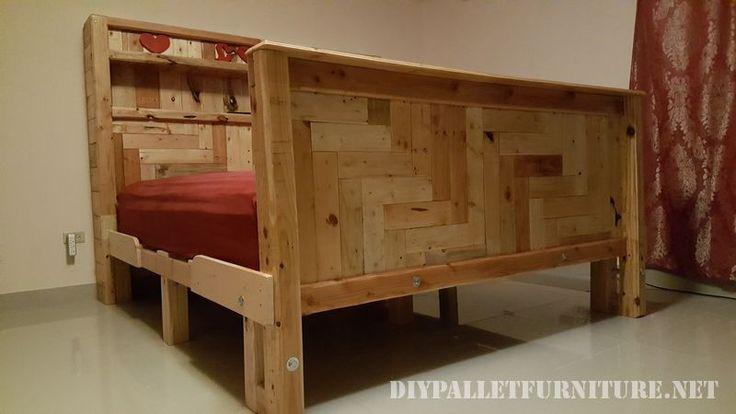 Dans la palette de gars de Guam ont créé ce lit romantique explicitement en…