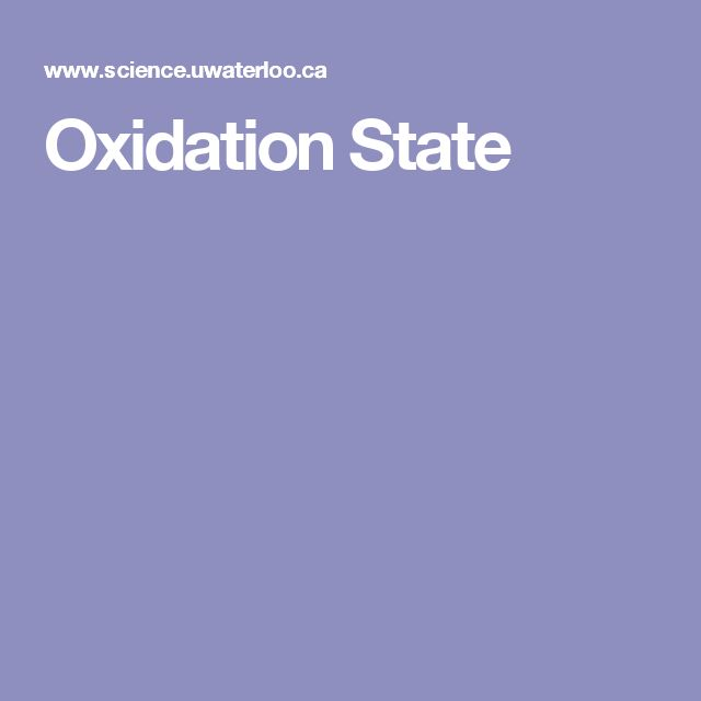 Oxidation State