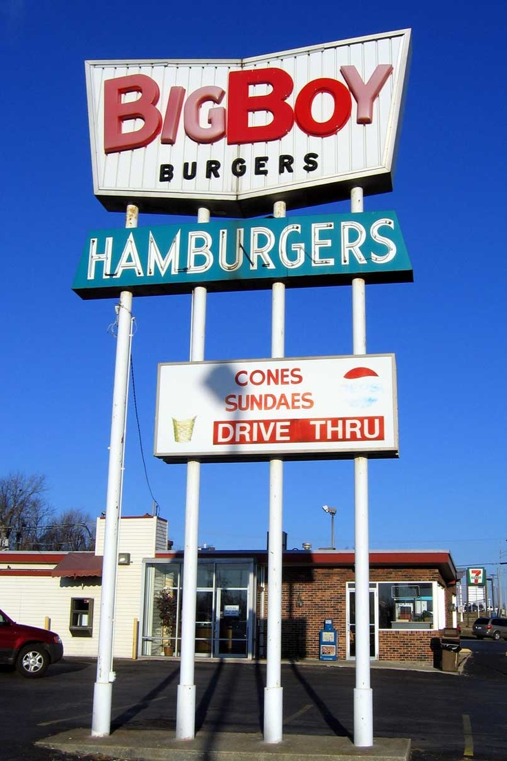 Bigboy burgers old neon signs independence missouri