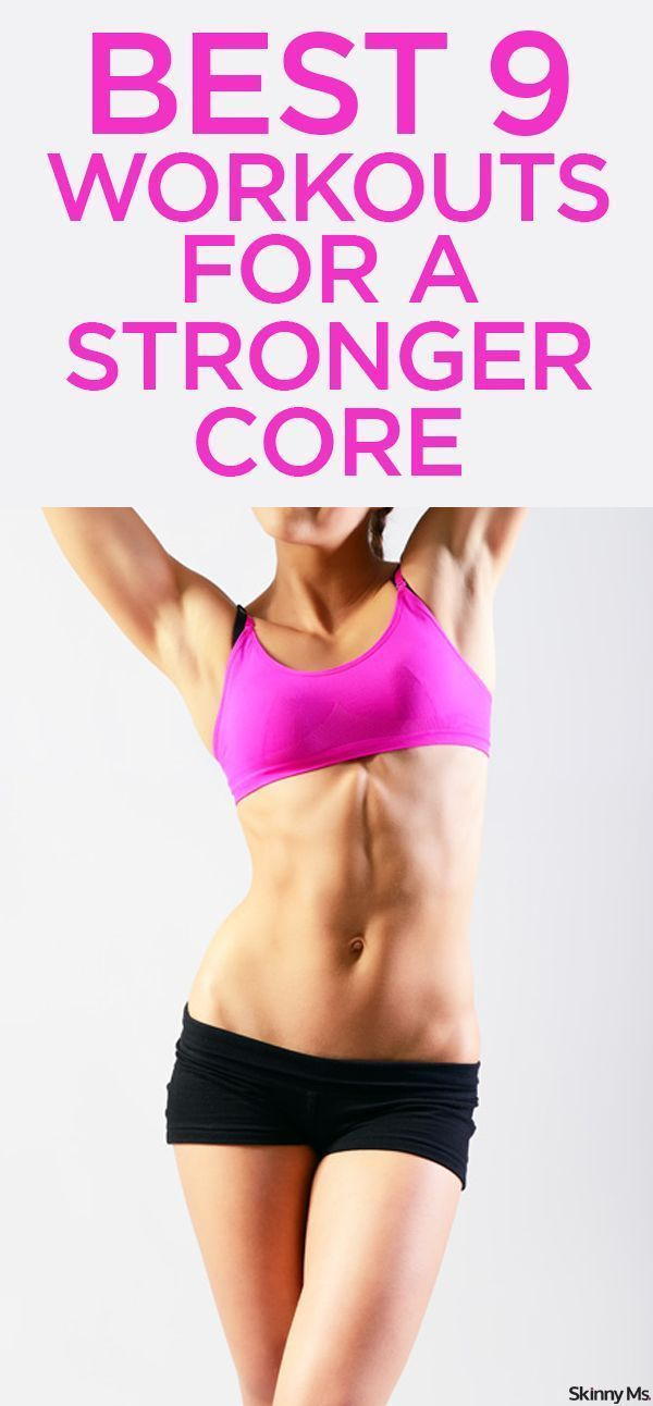 These 9 Workouts will help you look your best while building a stronger core. #SkinnyMs