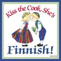 Finnish Gift Magnet Tile (Kiss Finnish Cook) – ScandinavianGiftOutlet